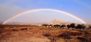 Rainbow over Herodion (Flickr: israeltourism)
