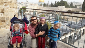 Me and my boys at the Western Wall last year