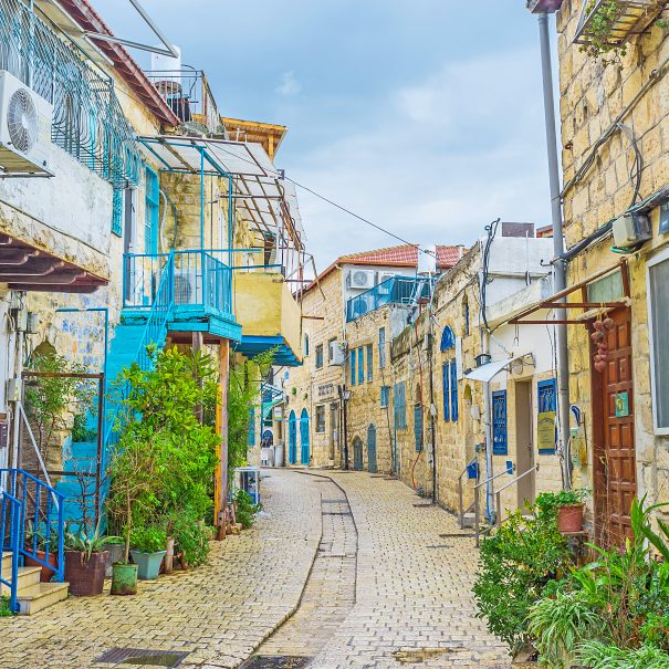 empty street tzfat israel safed